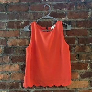 Coral scallop shirt